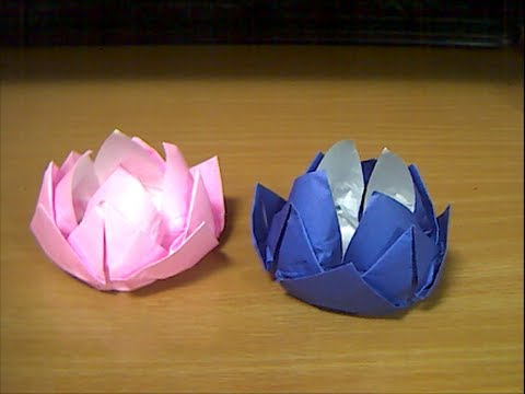 クリスマス 折り紙:折り紙花の作り方-youtube.com