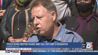 Activists again call for Kansas City police chief's ouster