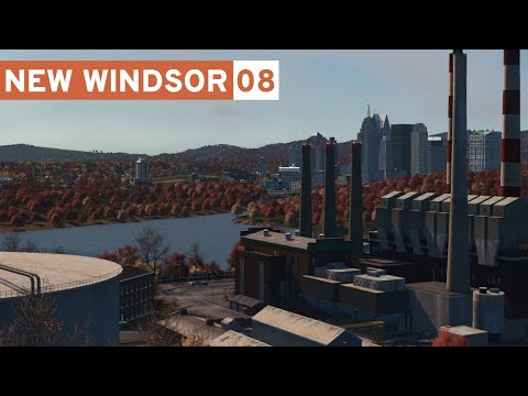 Building a Realistic Oil Power Plant! - Cities Skylines: New Windsor - Part 8 -