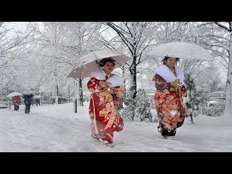 Снег в Японии.Февраль 2018. Что произошло на нашей Планете. Что произошло в мире.