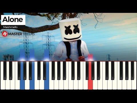 💎 Alone - Marshmello  Piano Tutorial 💎