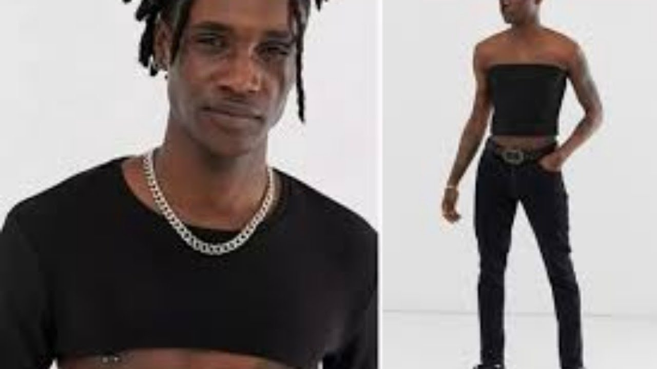 Apparently, crop tops for men are all the rage in fashion