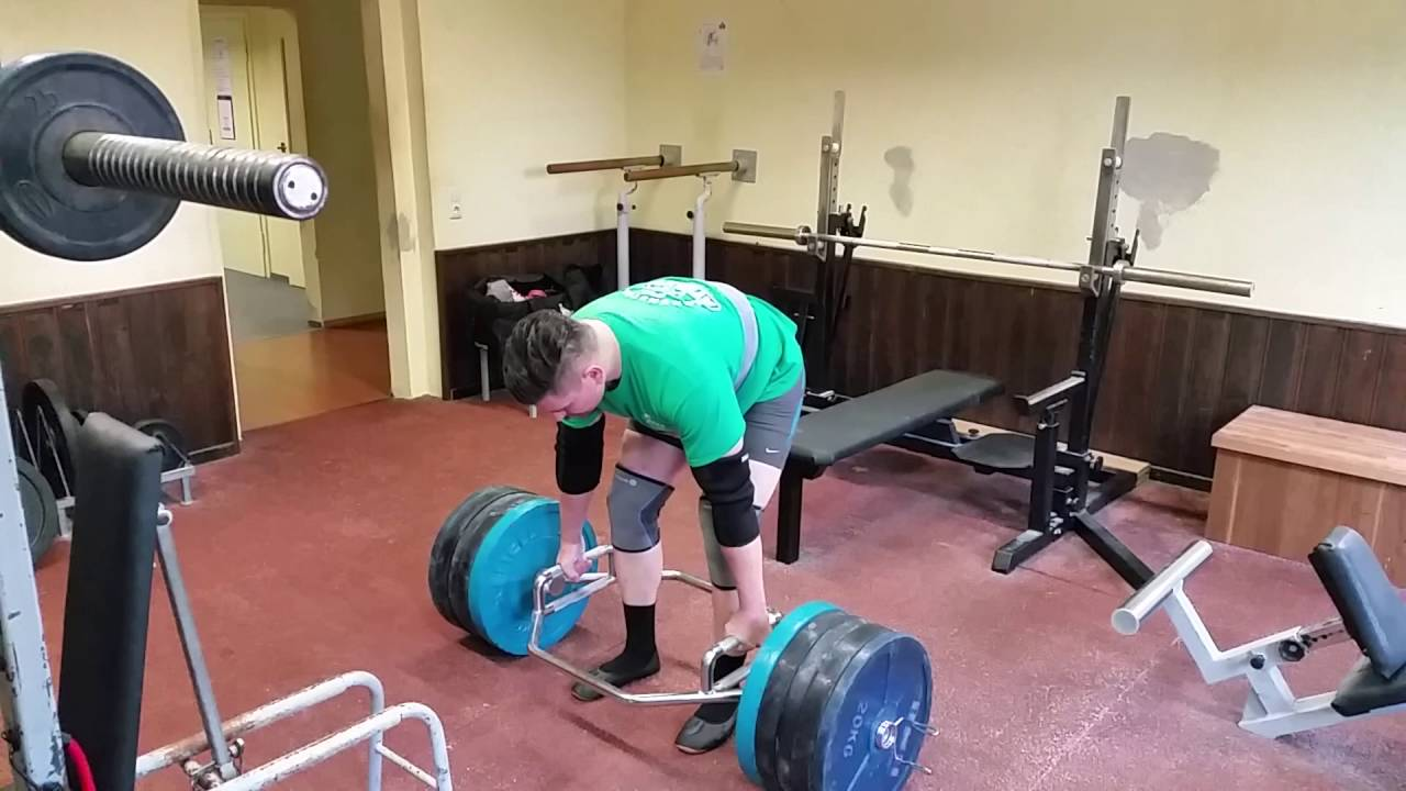 320 Kg Hex Bar Kreuzn 705 Lb Trap Deadlift Raw