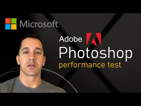 Surface Pro 7 I5 Adobe Photoshop Performance Speed Test - (revised Video Coming) Please Subscribe