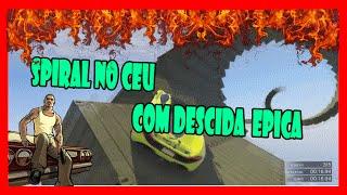 GTA 5 ONLINE PS4: corrida com spiral no ar e mega rampa insana