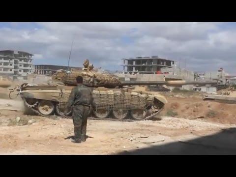 ᴴᴰ Tanks with GoPro's™ storming South Darayya Syria Part I ♦ subtitles ♦