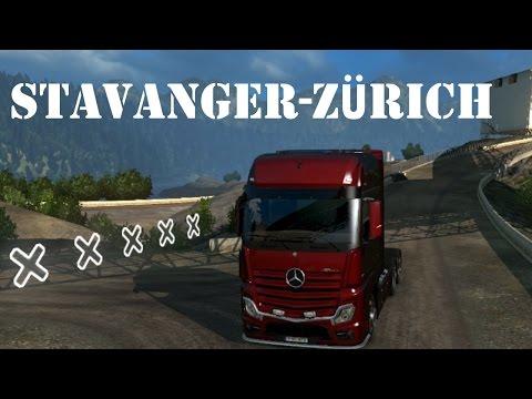 Euro Truck Simulator 2 gameplay (HUN) - Stavanger-Zürich - Kamionozgatás #3