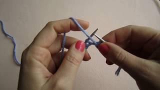 knitting.ВЯЗАНИЕ СПИЦАМИ ДЛЯ НАЧИНАЮЩИХ С НУЛЯ  УРОК №3 Вязание Изнаночная петля