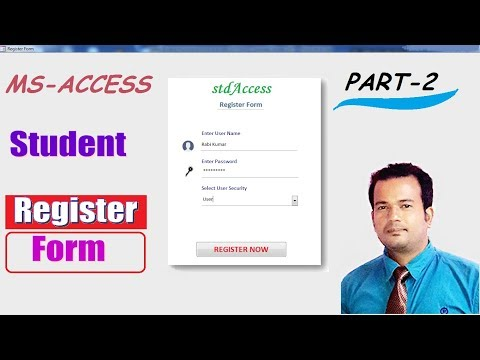 Create Student Registration Form In Access 2007 Part -2