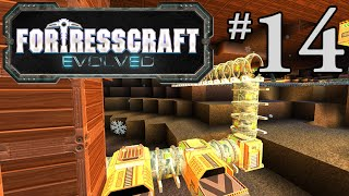 FortressCraft Evolved Gameplay #14 - Pipe it Up!