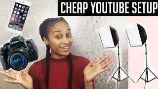 My Cheap Youtube Setup and Equipment! | Backdrops, Cameras, & MORE!