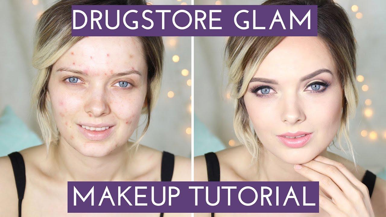 Acne coverage drugstore glam makeup tutorial mypaleskin acne coverage drugstore glam makeup tutorial mypaleskin youtube baditri Choice Image