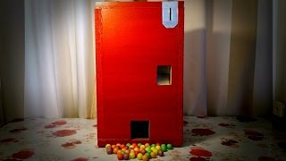 Самодельный торговый автомат 2(Вторая версия моего самодельного торгового автомата ,на этот раз для автономной продажи жевательной резин..., 2015-06-02T11:00:02.000Z)