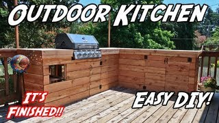 Series Finale! | DIY Outdoor Kitchen | How to Build an Outdoor Kitchen