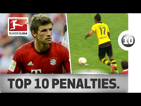 Top 10 Penalty Moments in Bundesliga History - Aubameyang, Müller and More Spectacular Spot Kicks!