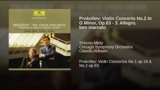 Prokofiev: Violin Concerto No.2 in G minor, Op.63 - 3. Allegro, ben marcato