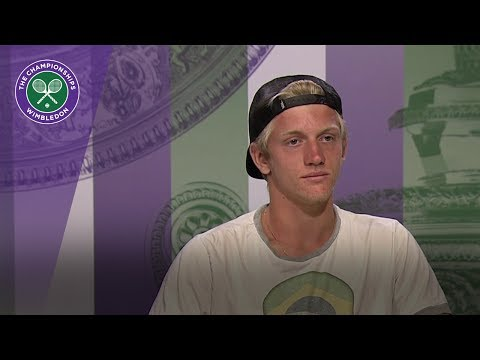 Alejandro Davidovich Fokina Wimbledon 2017 boys' singles final press conference