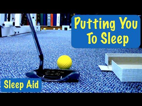 ASMR - Putting Golf Balls - Sleep Aid