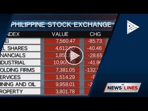 Wednesday's Philippine Stock Exchange Index
