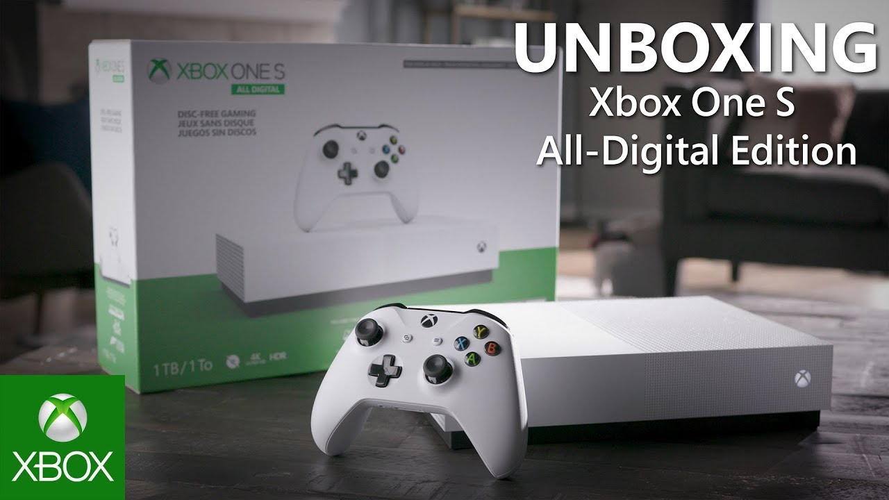 Microsoft представляет Xbox One S All-Digital Edition