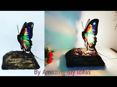 DIY- Butterfly table lamp / paper lampshade/Amazing diy ideas