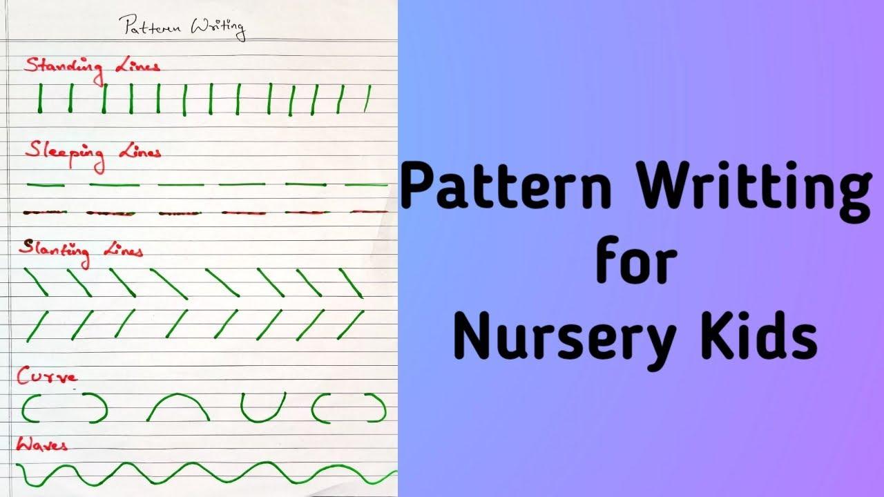 Standing Line Pattern Worksheets For Kindergarten