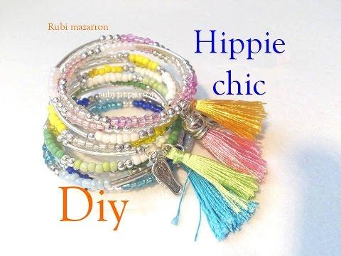 DiyPulseras hippie chic de verano