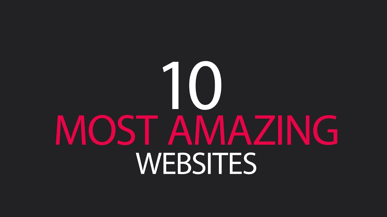 10 most amazing cool websites you didn 39 t know existed on Video websites