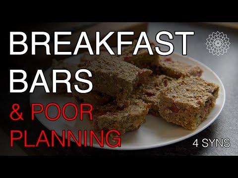 Breakfast Bars & Poor Planning