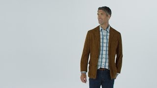 ORVIS - Presidential Suede Leather Blazer For Men