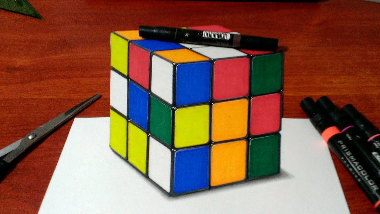 Drawing A 3d Rubiks Cube