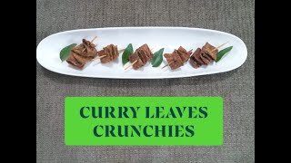 CURRY LEAVES CRUNCHIES                   SHIKHA KHANDELWAL