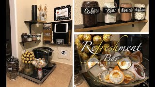 BLACK AND GOLD COFFEE BAR /REFRESHMENT STATION FOR SMALL SPACES