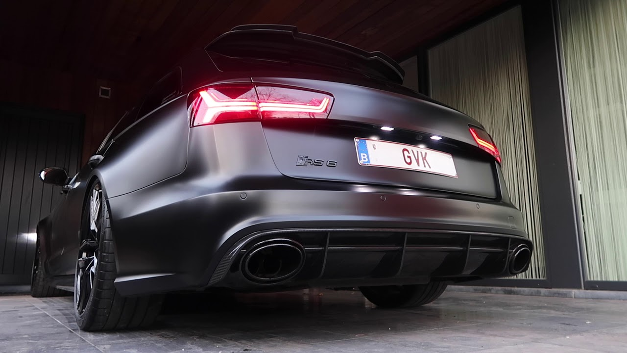 AUDI RS6 LOUD Milltek Exhaust & Catless Downpipes - YouTube