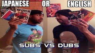 EVERY DUBBED vs SUBBED ANIME DEBATE!!!