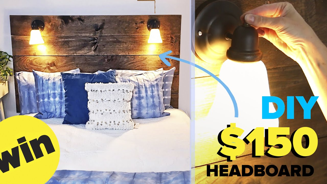 headboard reading and pin cute a made pallets wood lamp lamps table pallet with