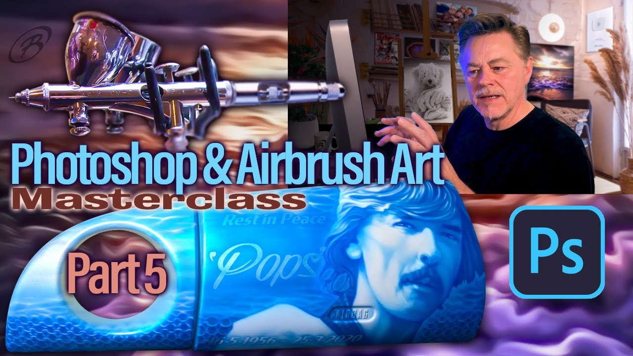 Airbrush & Photoshop Masterclass - Painting Colin Cotton Part 5