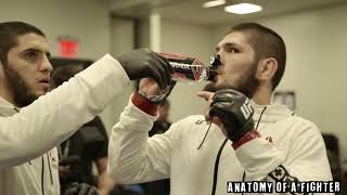 """Everybody has a different path."" - Khabib Nurmagomedov in the locker room before UFC 223"