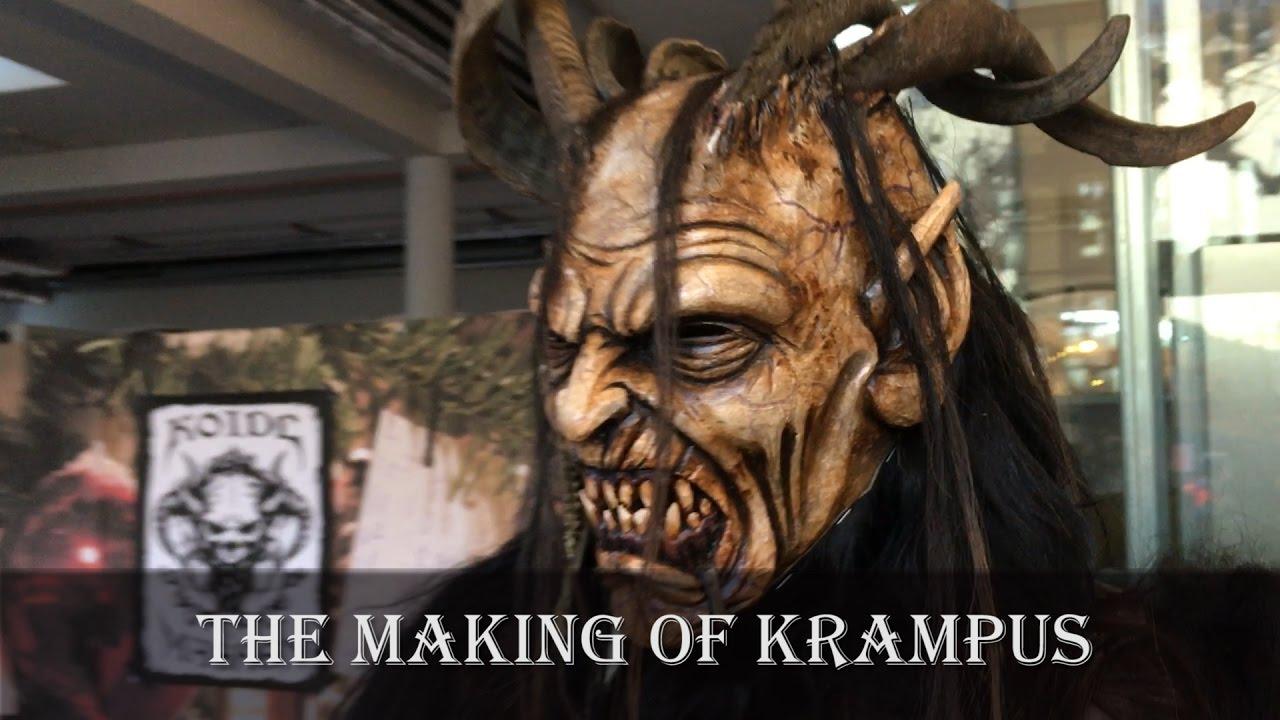 The Making Of Krampus For The Krampus Run In Salzburg Austria