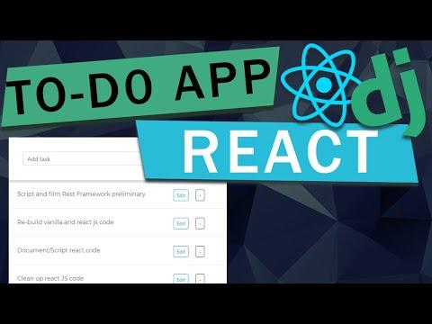 React + Django To-Do App   Django REST Framework