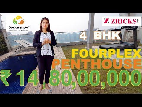₹14.80 CR ♥️ India's 1st Fourplex PENTHOUSE 😍 Central Park Resorts 🛏️ 4 BHK (8685 sqft) 😱 SKY VILLAS