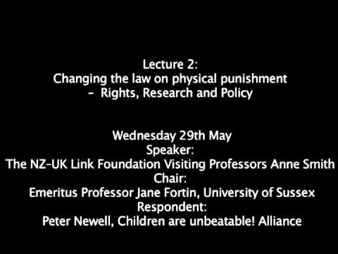 Changing the law on physical punishment -- Rights, Research and Policy