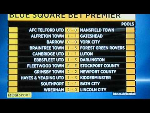 Football results & tables - 19 november 2011 read by tim gudgeon