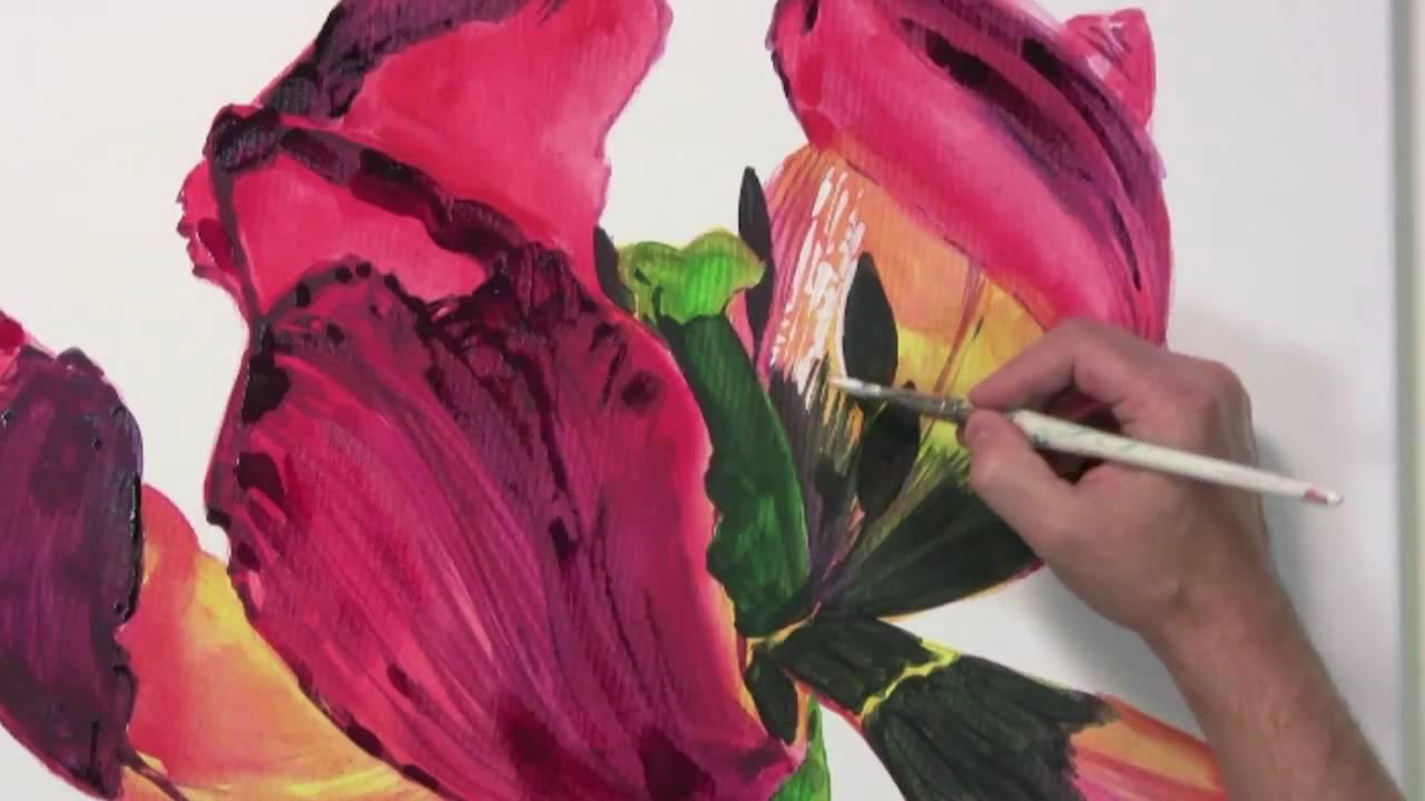 Bltenzauber  Leuchtende Blumenportrts in Acryl malen