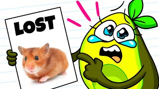 Vegetables LOST HAMSTER || Funny Situations with New Pet || Avocado Couple