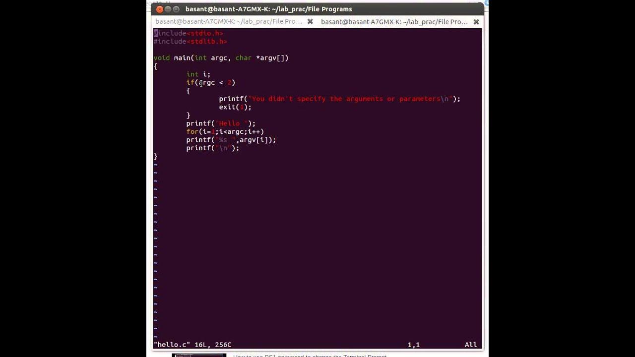 passing arguments to main using command line argument argc ...