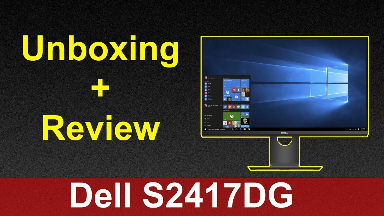 Dell S2417DG 24-inch G-SYNC Monitor Unboxing Review (1440p 165hz Gaming  Monitor)