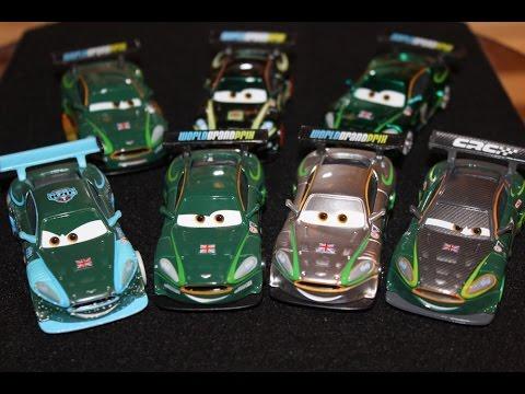 Mattel Disney Cars All Nigel Gearsley Variations (Carbon, Ice, Metallic, Neon, Silver, Carnival)