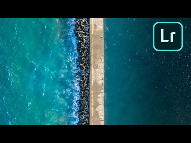 HOW I EDIT WATER DRONE SHOTS - ADOBE LIGHTROOM TUTORIAL
