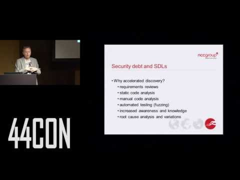 Software Security Austerity. Ollie Whitehouse at 44CON 2012.
